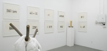 Exhibition view, Russell Maycember, Christina Pettersson, and Brian Wondergem, site95 at Launch F18, April 7 - 28, 2012