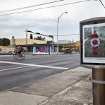Installation view, bus shelter project: John Anderson City Limits, site95 at Locust Projects, on view through September, 2012, Courtesy of Locust Projects, Miami, photo: Ginger Photography