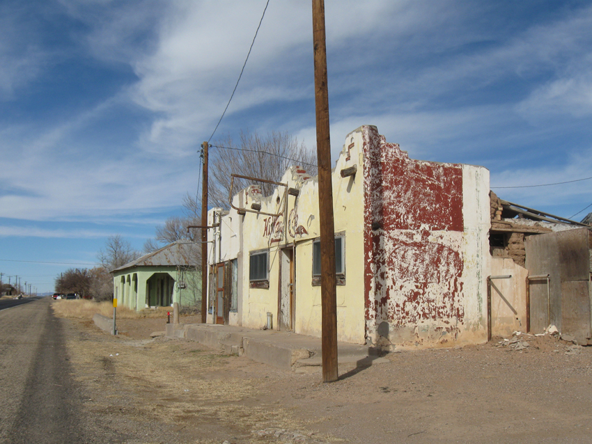 Spanish curves, adobe and the horizontal utility of ranch-style buildings merge in the architecture of the southwest Texas desert. Structurally preserved yet cracked or faded by the sun, it is impossible to tell how old some things are. There is often nothing for miles on either side.