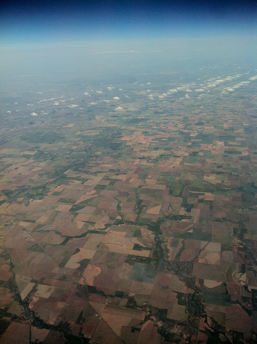 The land in parts of southwest Texas is divided as an ordered grid, defining ranch and farmland properties. It is completely linear.
