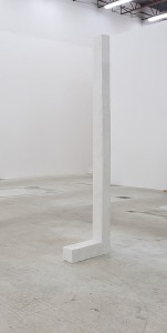 "Carolyn Salas ""L"", 2013 cast plaster Approx. 7ft x 3"" x 3in"