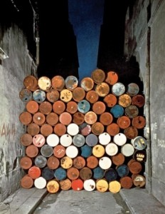 3 Wall of Barrels, 1961 Christo and Jeanne Claude